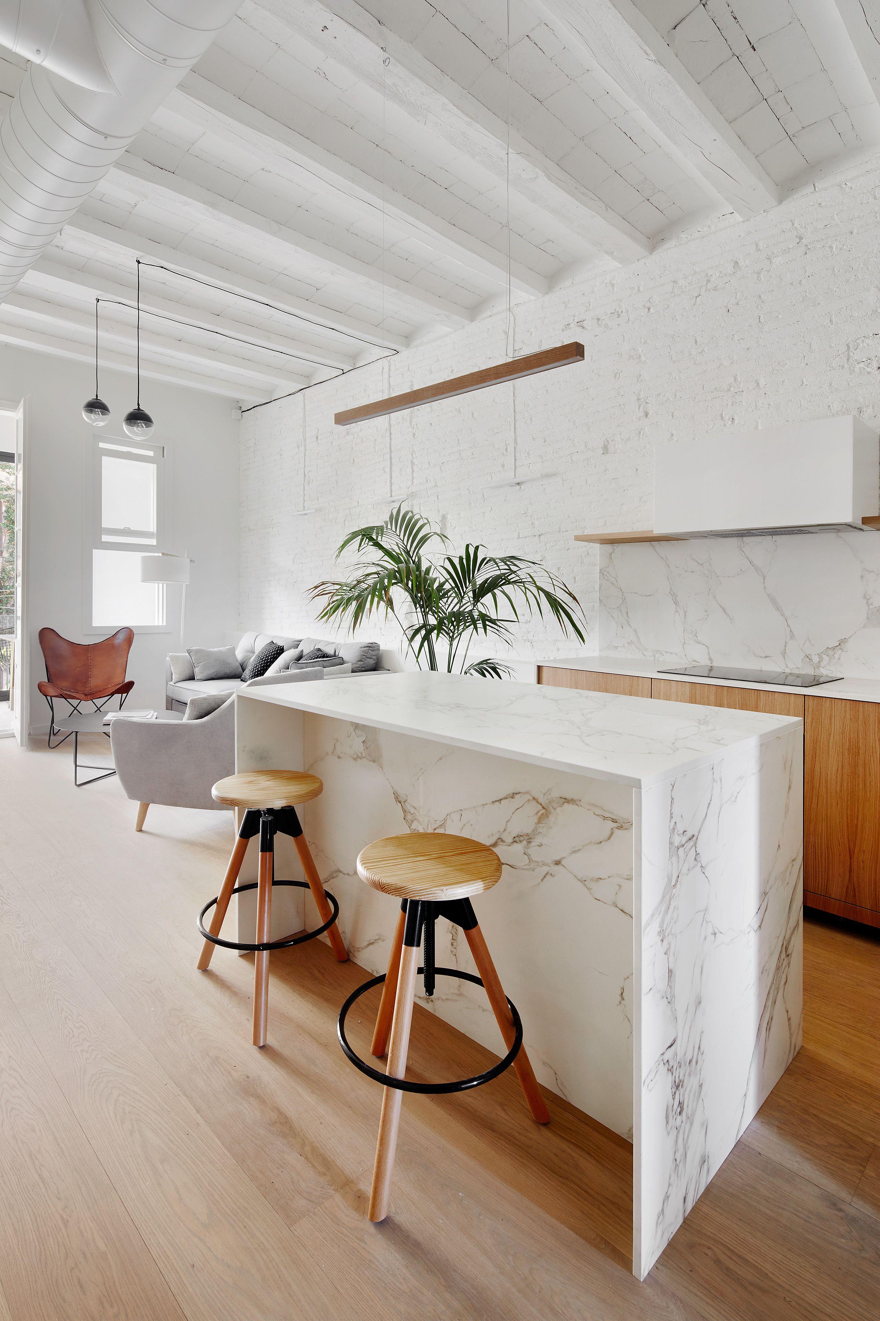 Reforma de una vivienda de 65m2 en el barrio de gracia barcelona interiorismo