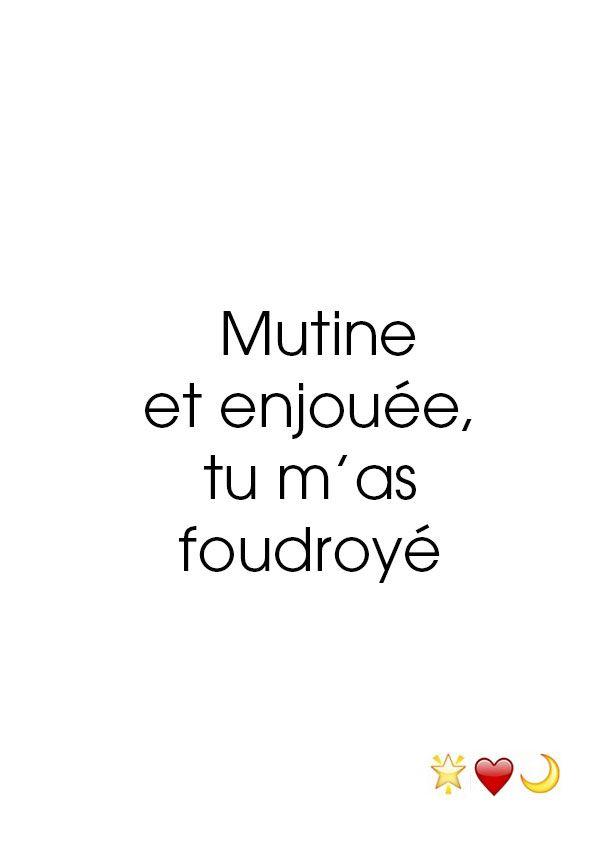 Mutine et enjouée, tu m'as foudroyé. 23 avril 2015.