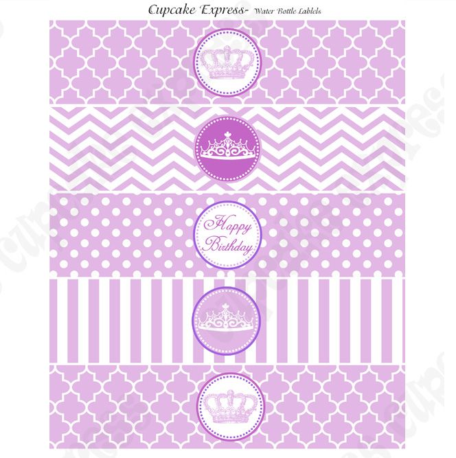 Free printable princess party water bottle labels! #freeprintables ...