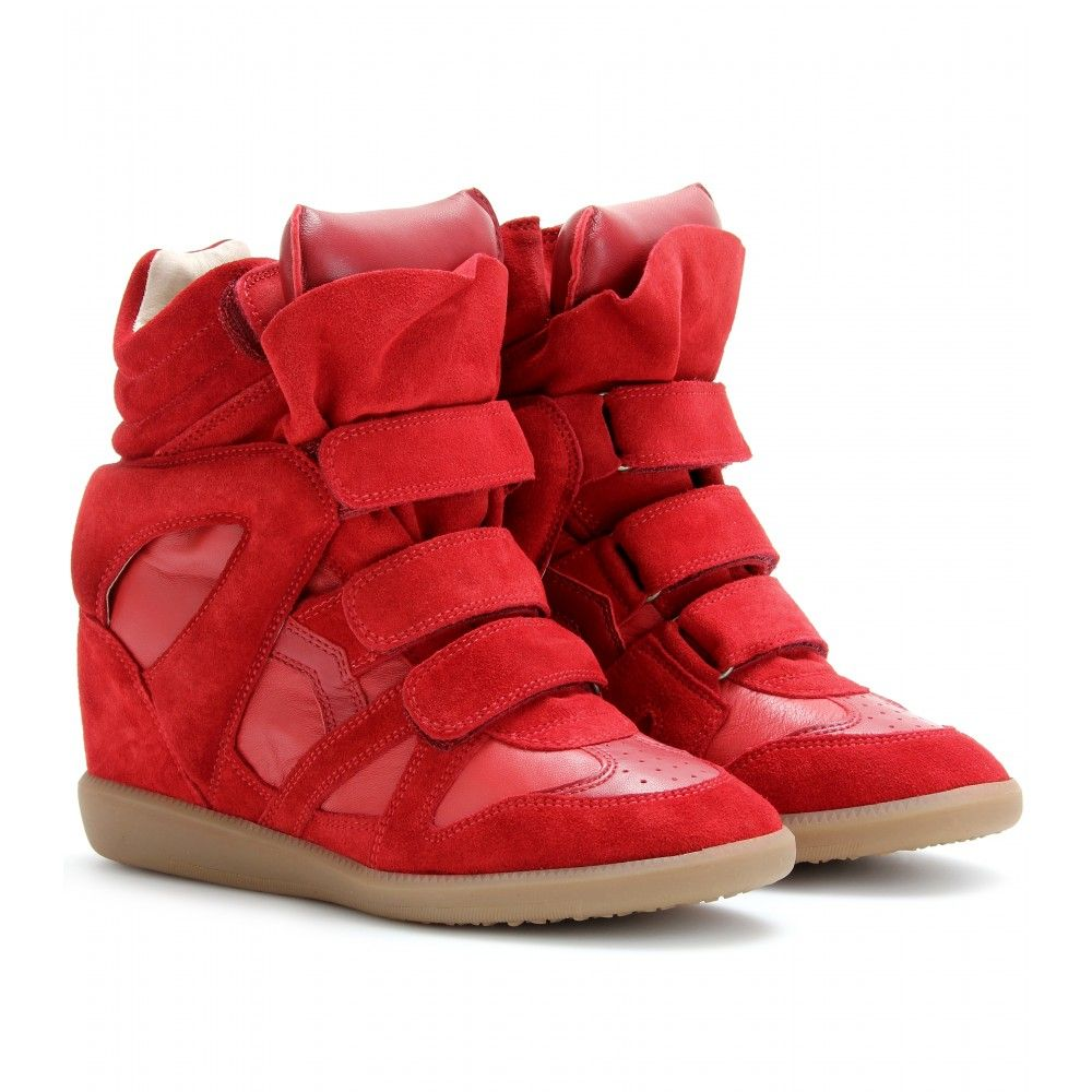 78f3e2c1507 I want this red sneaker wedges too❤❤❤ Red Sneakers