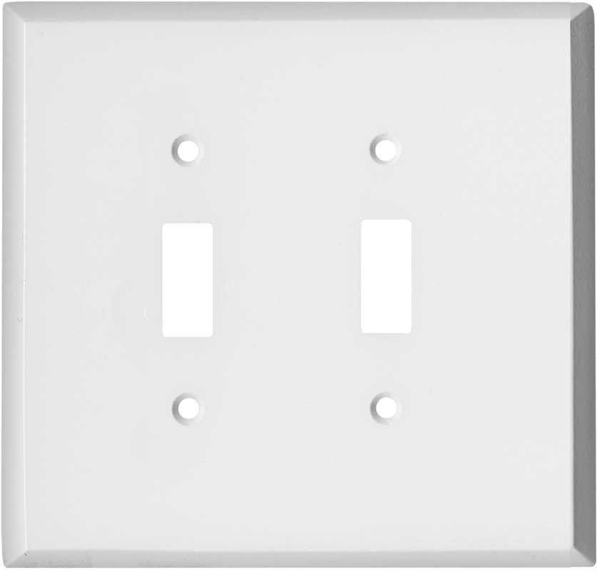 Oversized White Steel Plates On Wall Switch Plate Covers White Metal