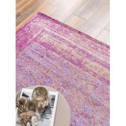 benuta Trends Flachgewebeteppich Frencie Lila 160x235 cm - Vintage Teppich im Used-Look #peinturesalontendance