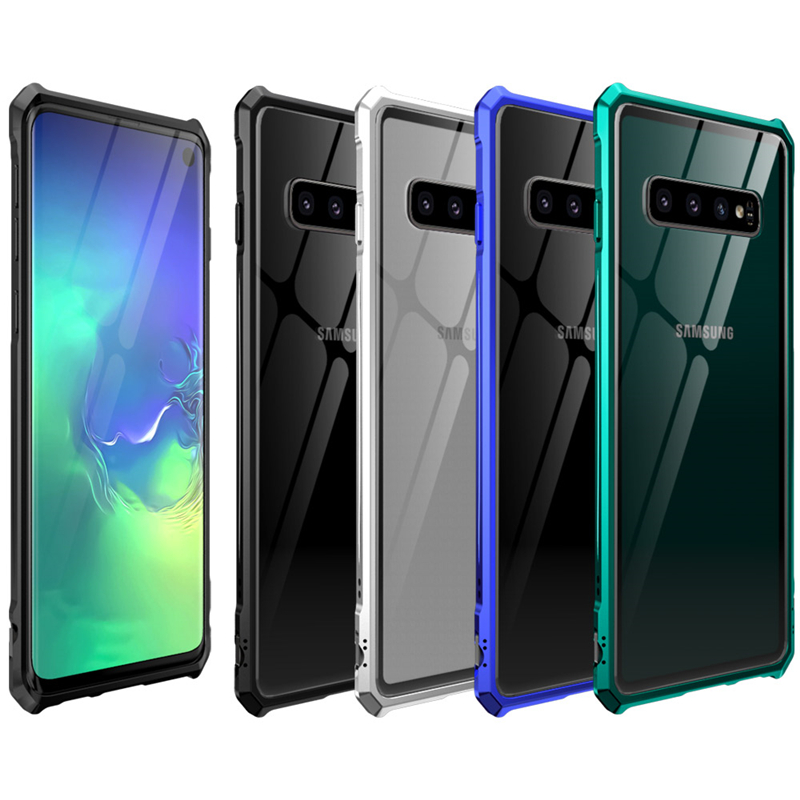 Luxury Metal Armor Cover Case For Samsung Galaxy S10 Plus S10 E S10e Frame Shell Bumper Back Clear Samsung Galaxy Wallpaper Samsung Galaxy