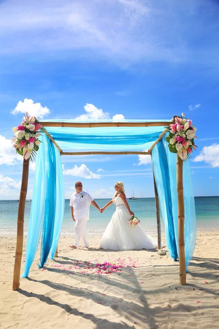 Beautiful shades of blue canopy with pink and white florals. St Lucia beach wedding.  sc 1 st  Pinterest & Beautiful shades of blue canopy with pink and white florals. St ...