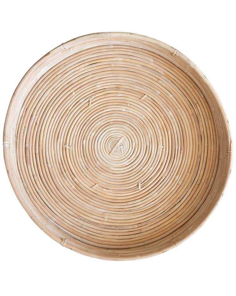 Cane rattan round tray round tray rattan wicker tray
