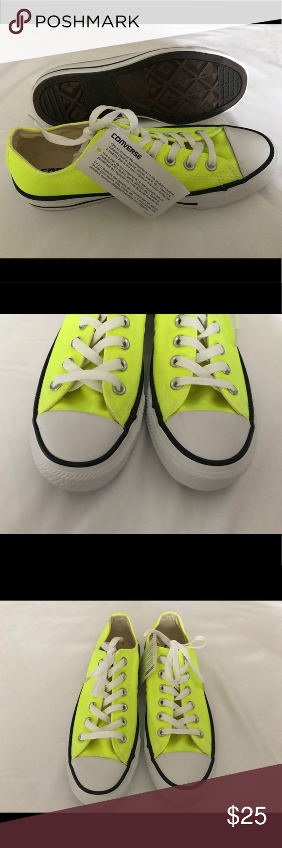 4ab8d111a789 Washed Neon Yellow Converse Brand New converse. They are in extremely good  condition they have