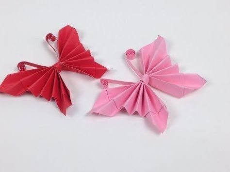 Origami schmetterling basteln mit papier deko f r zimmer for Origami zimmer deko