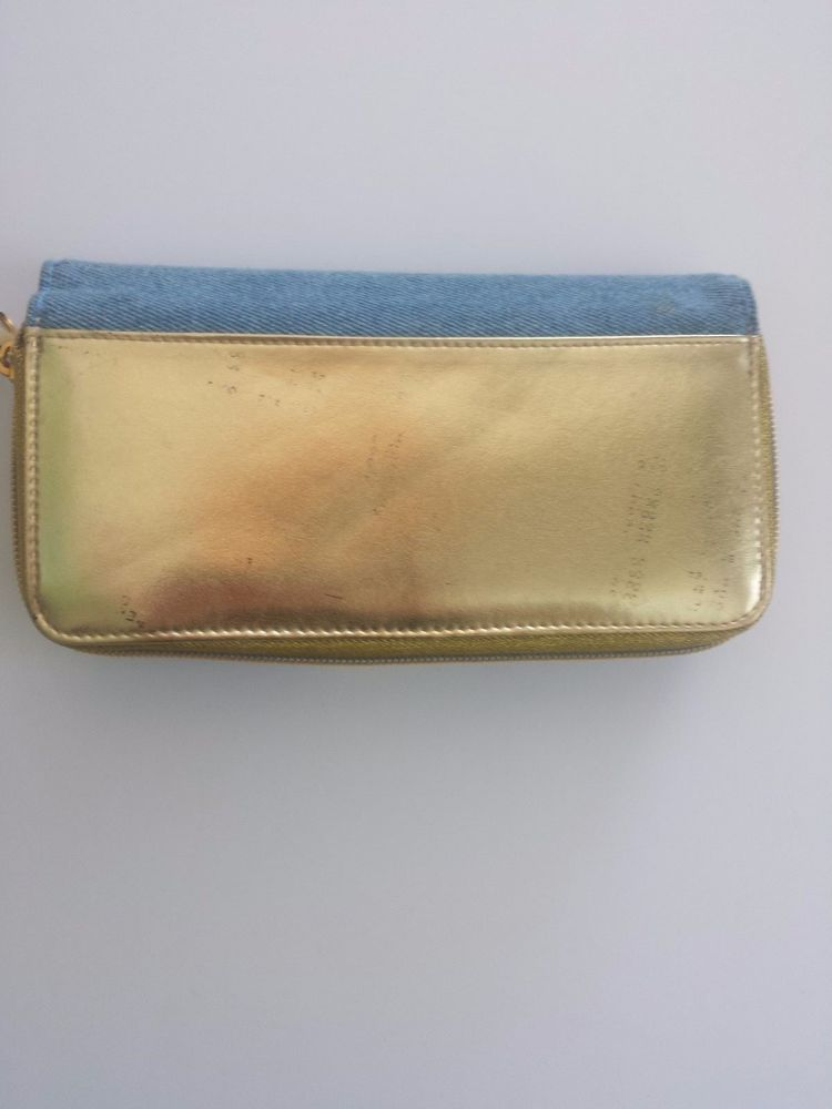vintage gold clutch purse bag wallet jeans denim womens accessories #other #Clutch