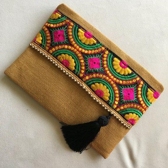 Embrague Boho, monedero étnico, regalo de cumpleaños, regalo de Navidad, bolso de noche, estilo Boho, bolso casual, bolso Boho, regalo para ella, moda de otoño