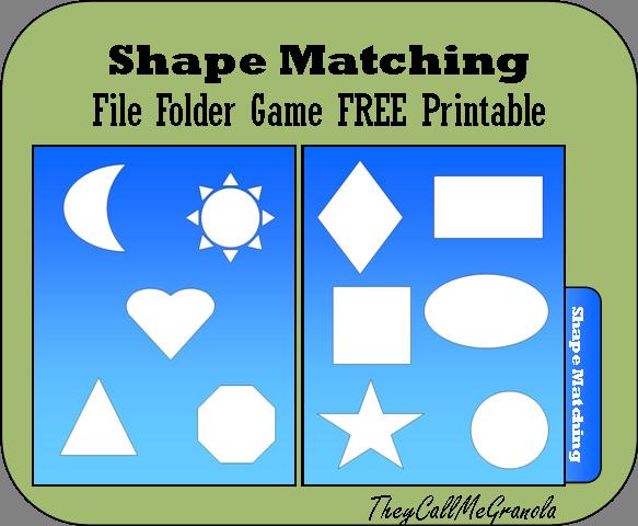 File Folder Games For Tots & Preschoolers: Color Matching