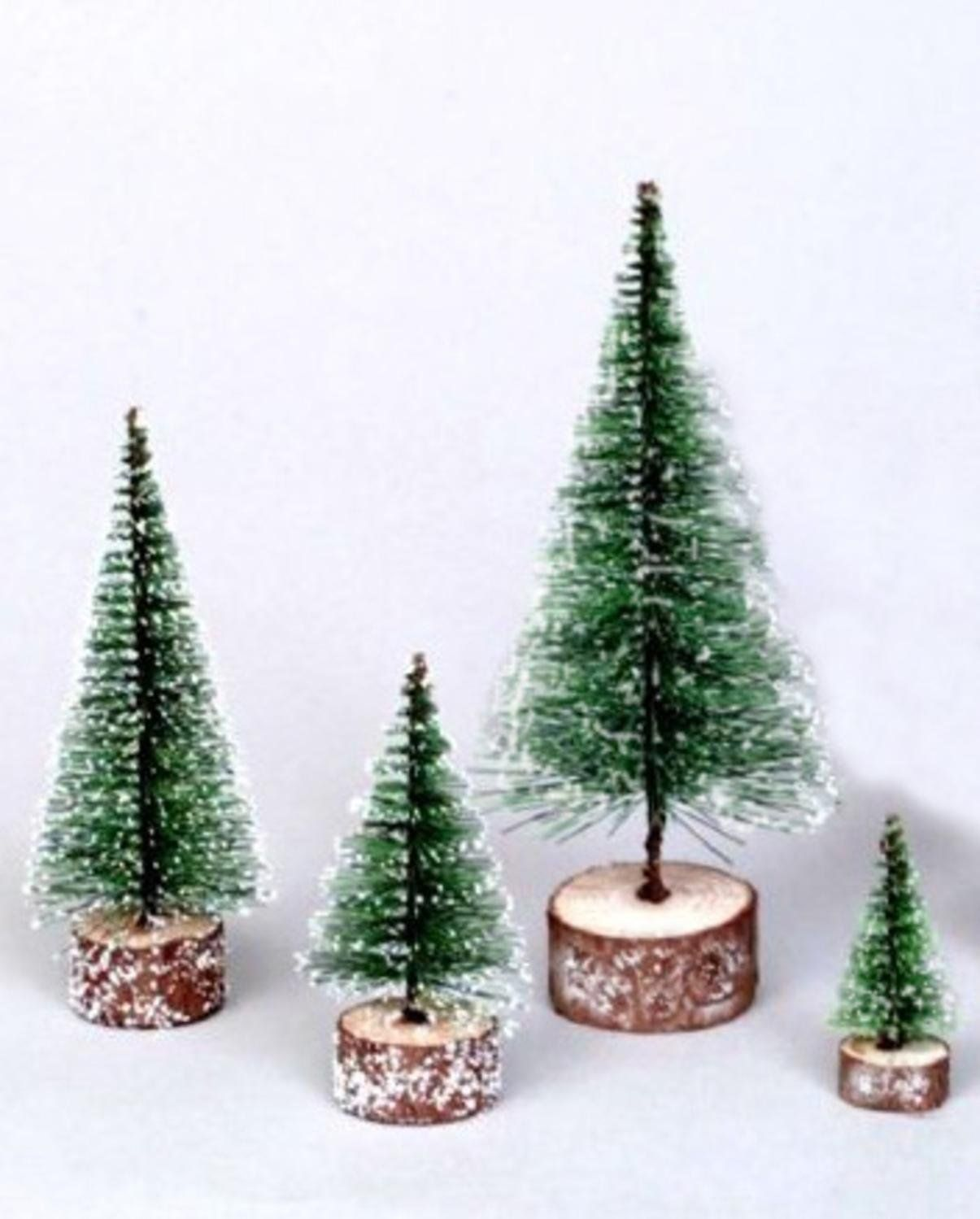 7' Green Frosted Artificial Village Christmas Tree - Unlit => Final call for this special discount  : Christmas Trees