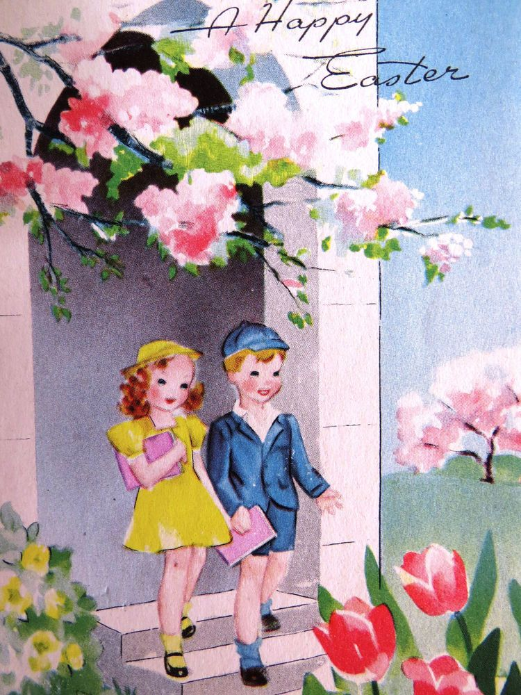 vintage easter cards uk