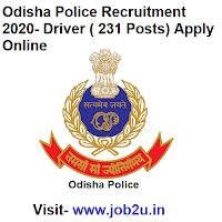 Odisha Police Recruitment 2020 Driver 231 Posts Apply Online