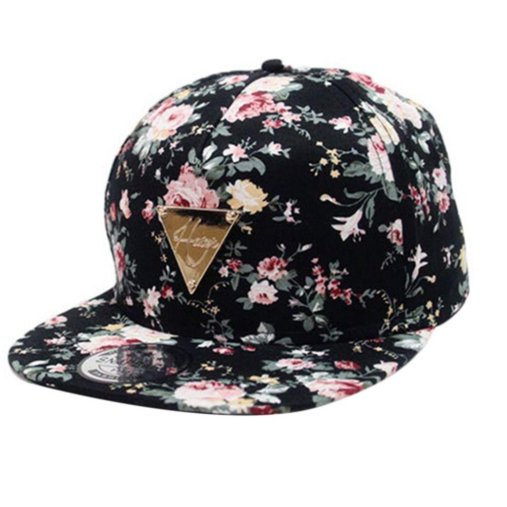 ff0a9adb90ae2 Barato Boné de beisebol das mulheres dos homens tampas de hip hop flor  floral snapback chapéu hop gorras planas Tampão Ajustável Chapéus de Sol  Para O ...
