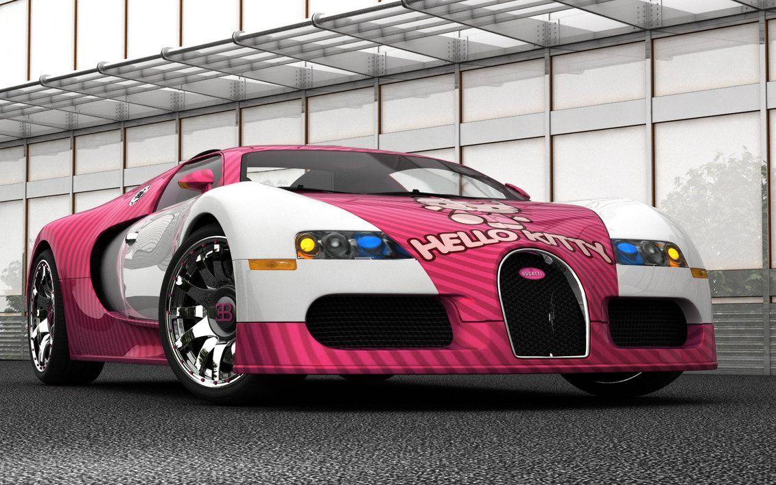 Bugatti Veyron Hellokitty Goodtastebadcredit Bugatti Veyron Hello Kitty Cool Cars