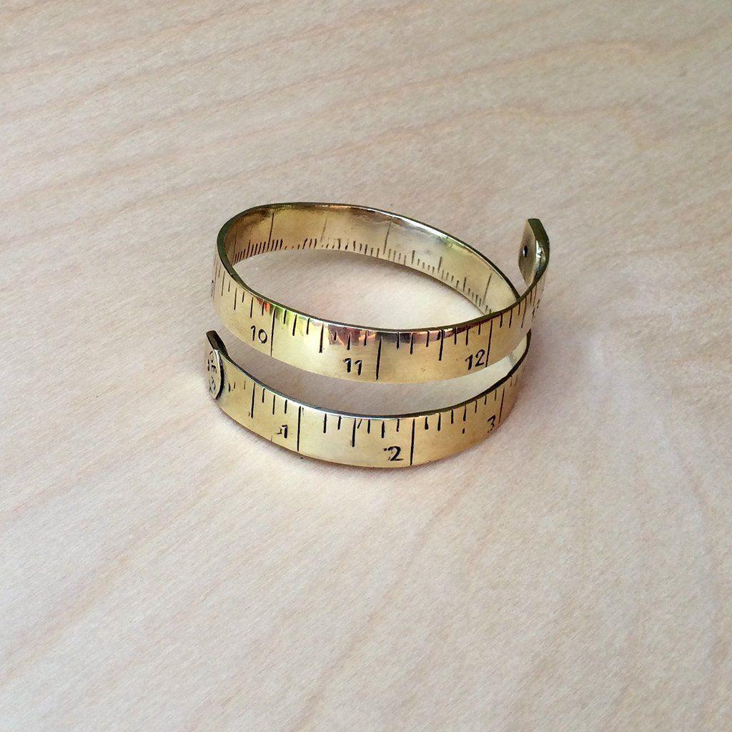 Measuring Tape Brass Bracelet Brass bracelet, Bracelets