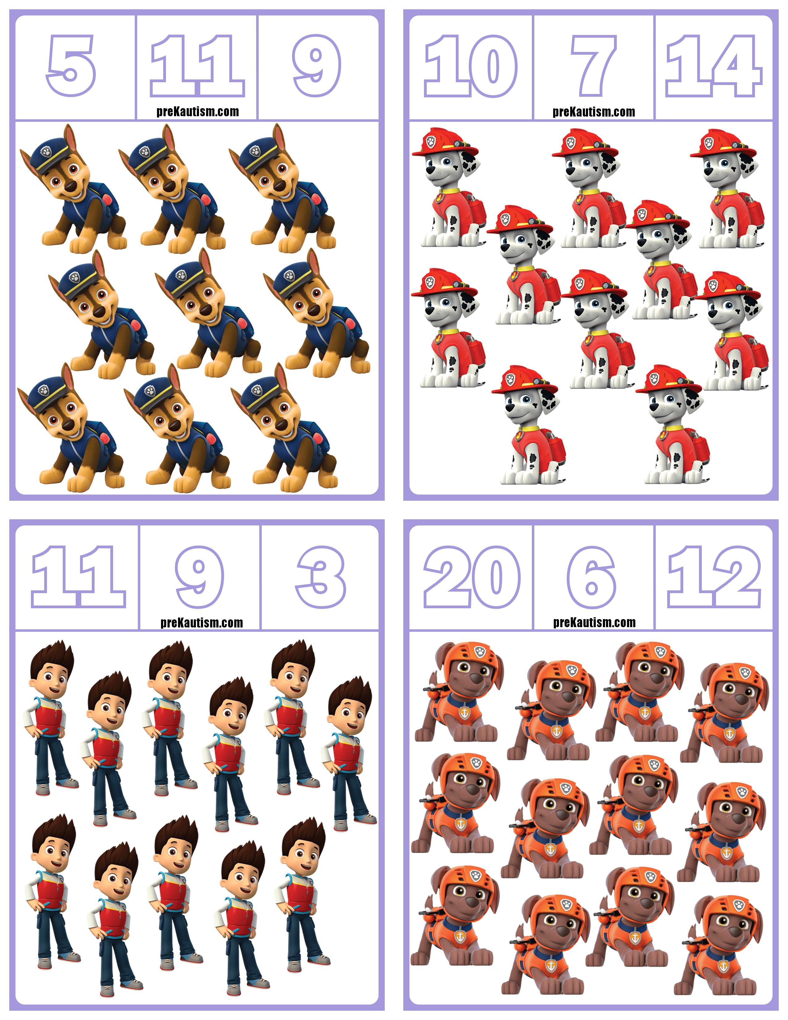 Free Paw Patrol Number Clip Cards Numbers 1 20 Math Activities Preschool Numbers Preschool Math For Kids [ 3300 x 2550 Pixel ]