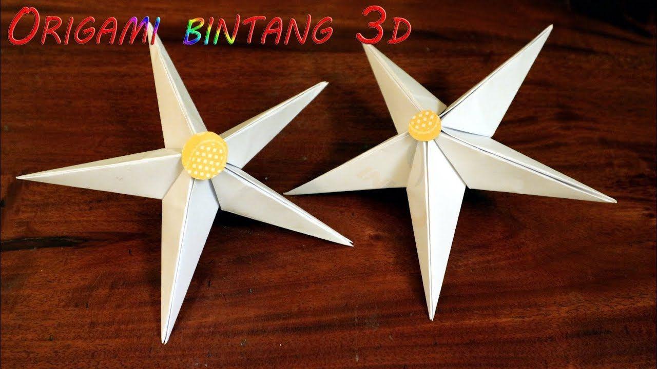 Cara membuat origami bintang 3d besar dari kertas