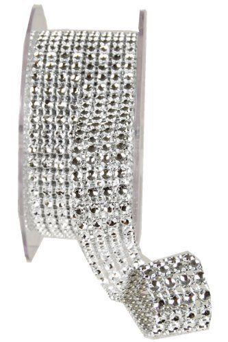 Diamond Ribbon Rhinestone Look Ribbon 34 X 3y 4 Rows Diamond