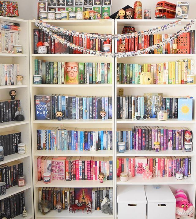 Rainbow Bookshelves Are The Easiest Way To Beautify Your