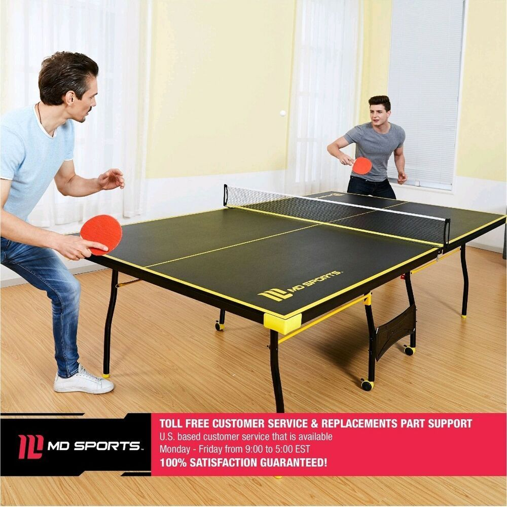 Folding Ping Pong Table Tennis Tournament Size Game Set Indoor Outdoor Sport Set Mdsports Table Tennis Table Tennis