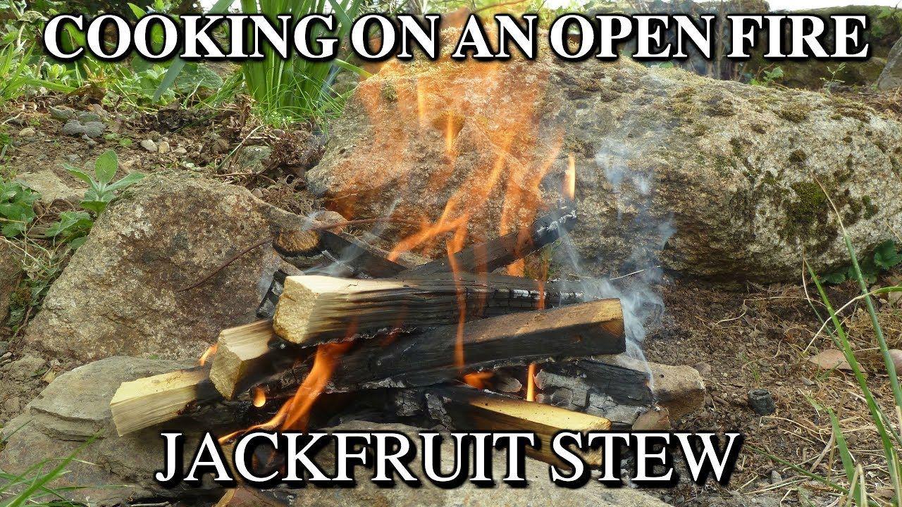 Jackfruit recipe jackfruit stew cooking on an open fire