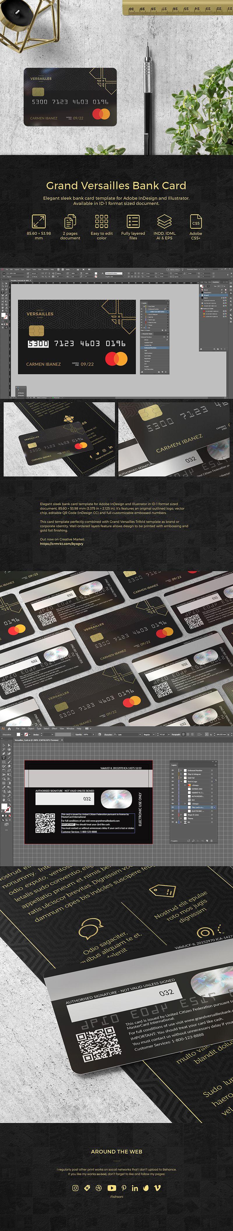 Grand Versailles Bank Card Fotografi Desain