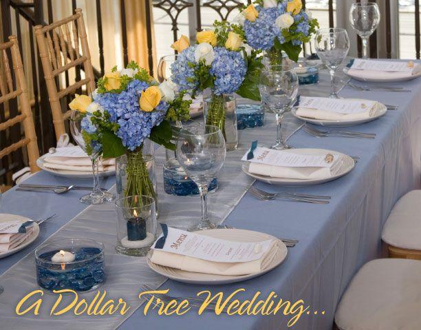 Dollar Tree, Inc.: La novia Dollar Tree - Azul frío, amarillo limón y plateado