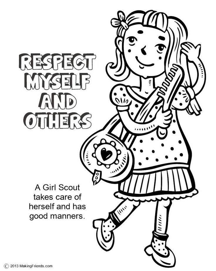 Girl Scout Law Coloring Book #603 | Pics to Color | Daisy | Pinterest