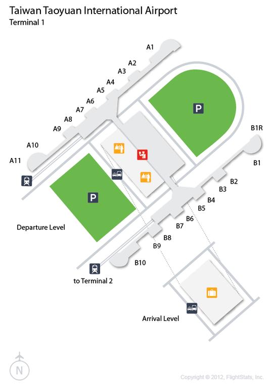 TPE Taiwan Taoyuan International Airport Terminal Map airports
