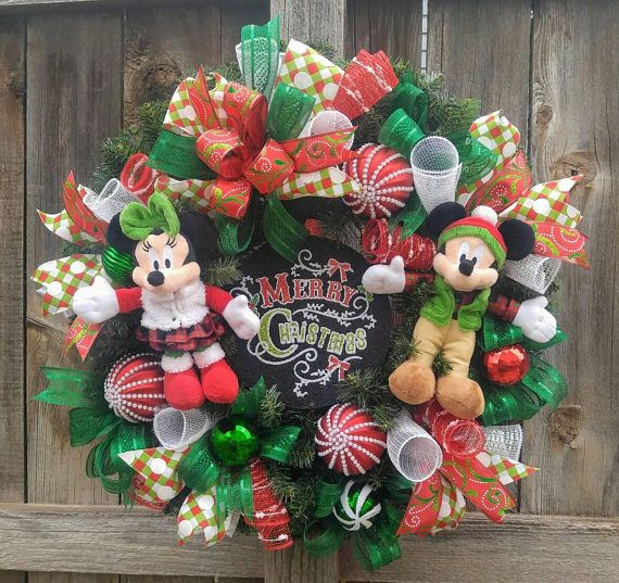 mickey mouse christmas wreath minnie mouse christmas wreath - Mickey Mouse Christmas Wreath