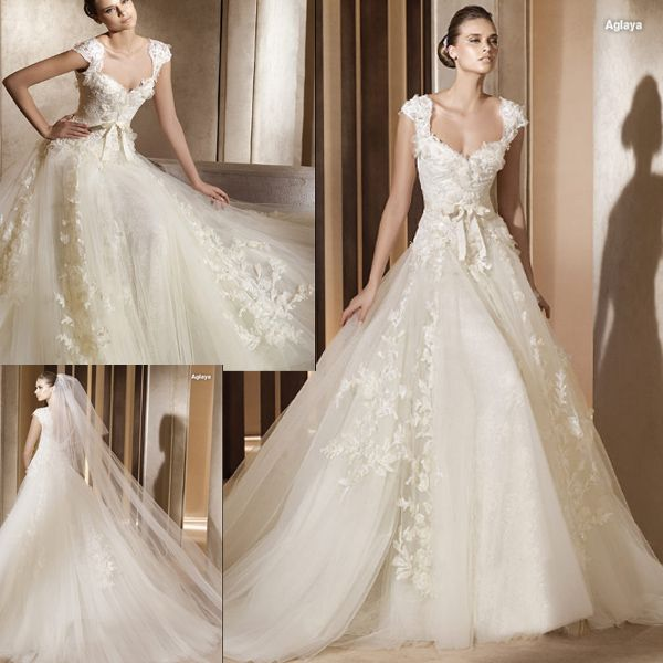 Lace Wedding Dress (111158) | Lace wedding dresses, Lace wedding and ...