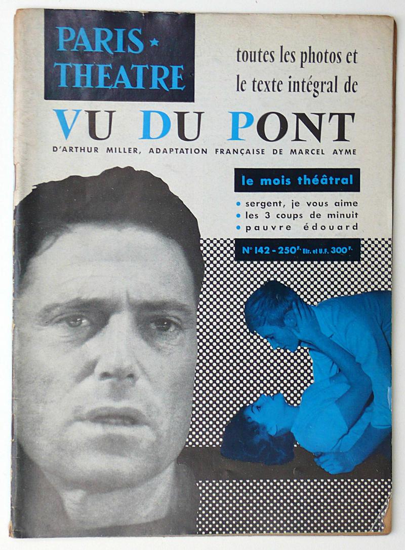 LETTRISME -  Paris-Théâtre. 4 numéros comportant des articles d'Isidore Isou (sous le pseudonyme Claude Damiens): n° 142 (1958), 147 (1959), 154 (1959), 170 (1961). Textes d'Isou sur Marcel Aymé, Albert Camus, Jean Canolle, Pierre Brasseur, Maria Casarès, Jean Cocteau, G. Bernard Shaw.