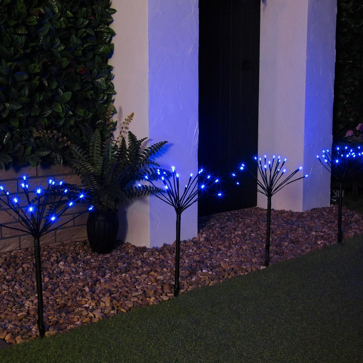 Outdoor Led Sparkler Garden Stake Lights Connectable In Low