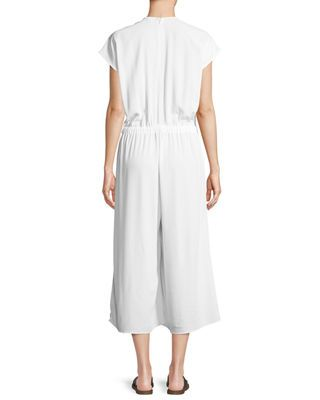 99c3525d467 Eileen Fisher Organic Cotton Cropped Jumpsuit