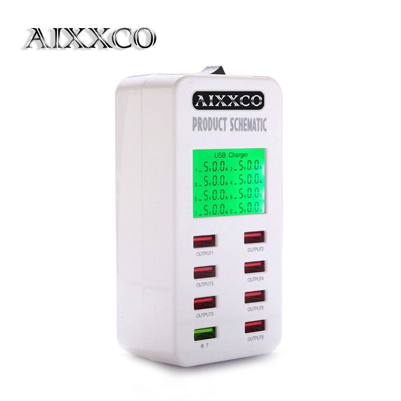 Aixxco display screen quick charge qc30 adapter usb