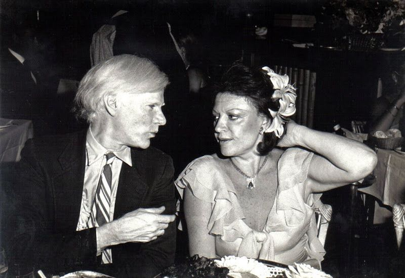 Andy Warhol And Legendary Disco Club Owner Régine Disco Inferno
