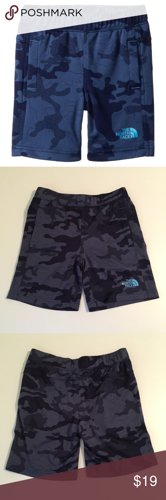 f7ce90176 The North Face Kids Blue Camo Mak Shorts New with tags. Tiny fabric ...