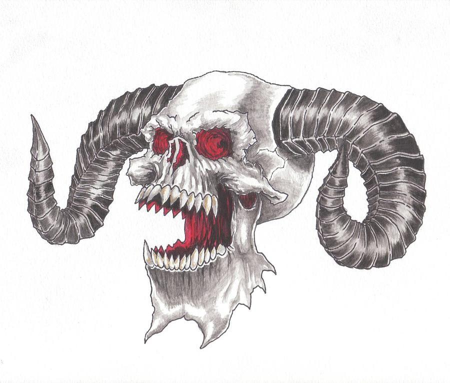 Image Result For Demon Skull Ram Horns Drawings Drawings