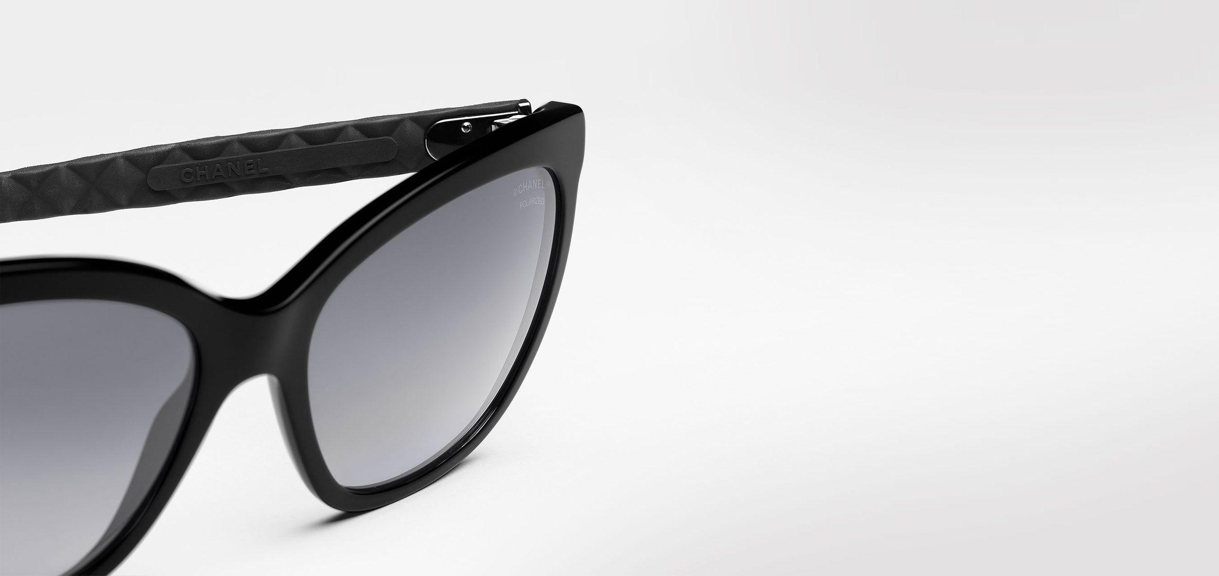 Chanel Sunglasses Black Square Quilting   Online Boutique   Virtual ...