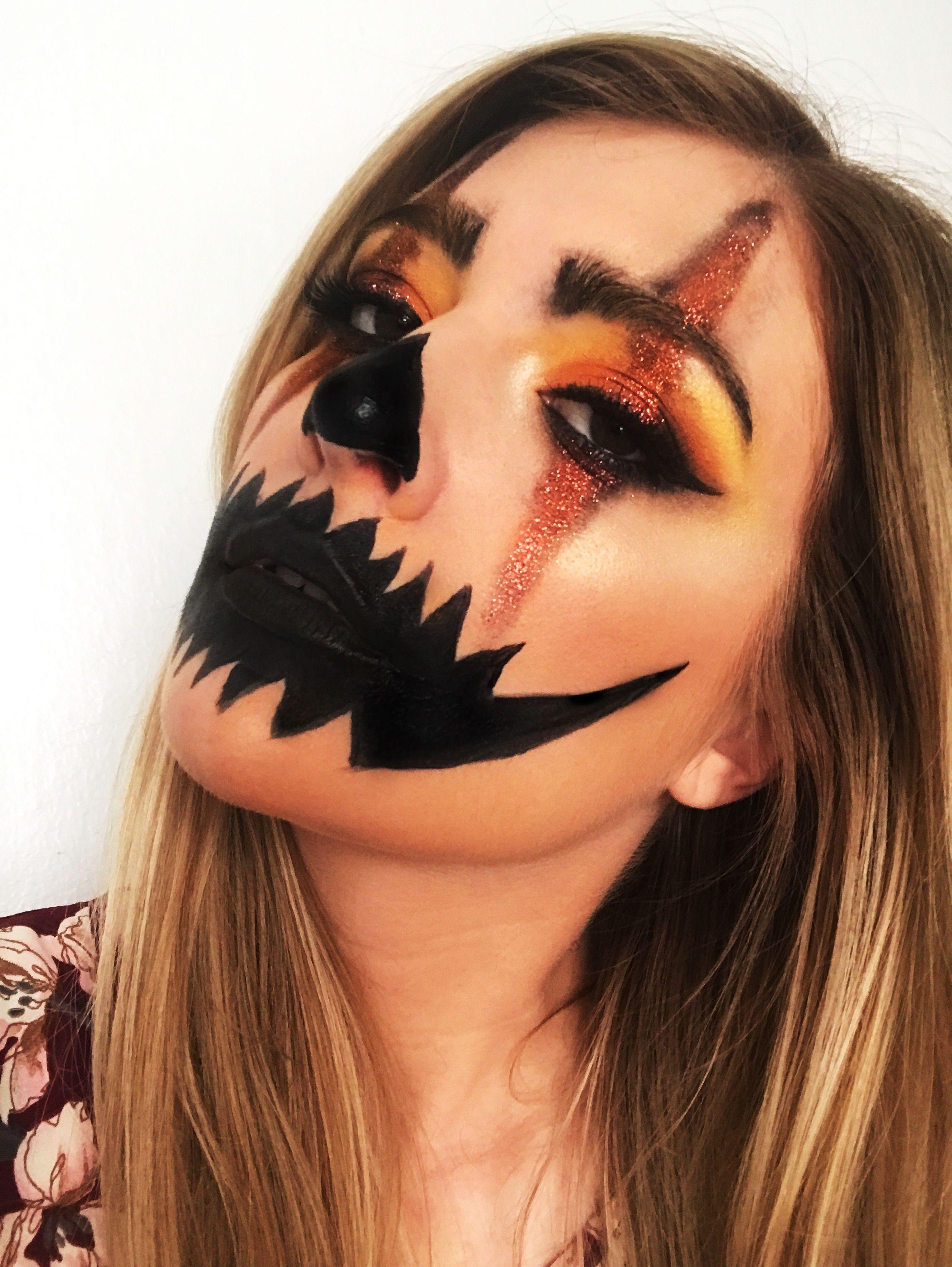 Halloween jackolantern makeup Cute halloween makeup