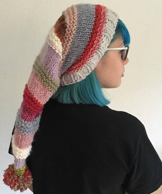 dad72e8e3 art fresher hat knitting pattern instant download adult pixie hat ...