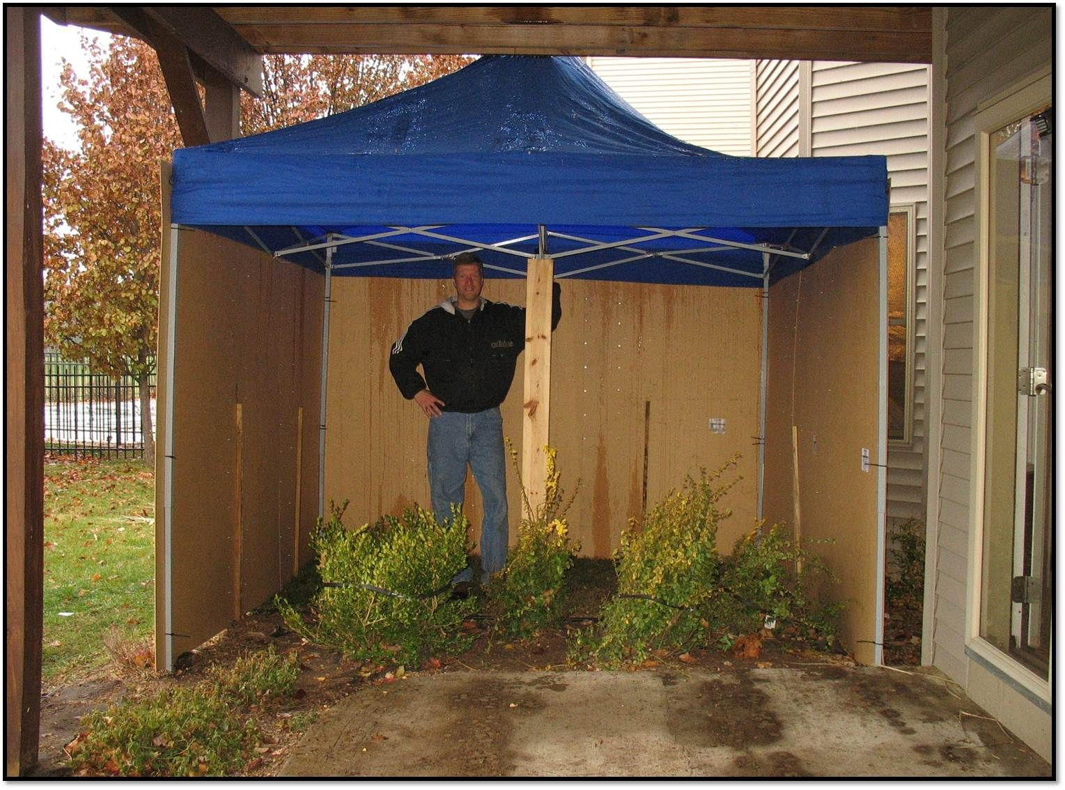 Covered Potty Area For Wind Rain And Snow Outdoor Dog Area Dog Potty Area Dog Tent