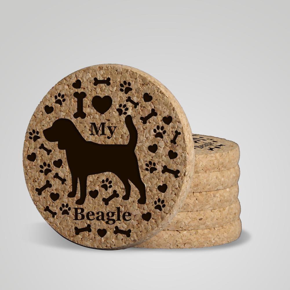 I love my dog gifts i love my puppy coaster premium coasters