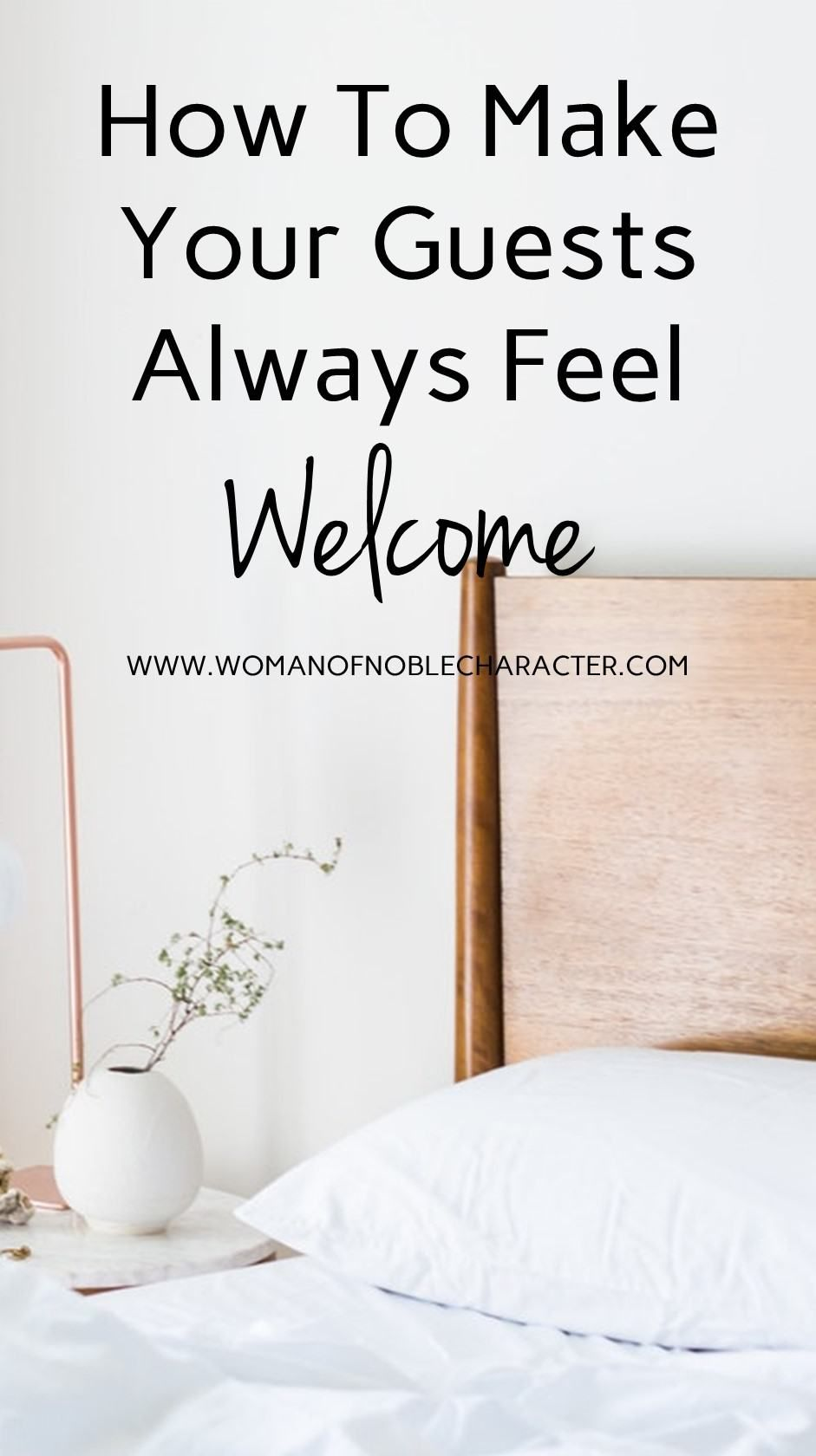 How to show biblical hospitality by preparing a welcoming guest room. Tips and ideas to make your guests feel welcome in your home. #guestroom #hospitality #welcomeguests #biblicalhospitality #Proverbs31 #Proverbs31wife