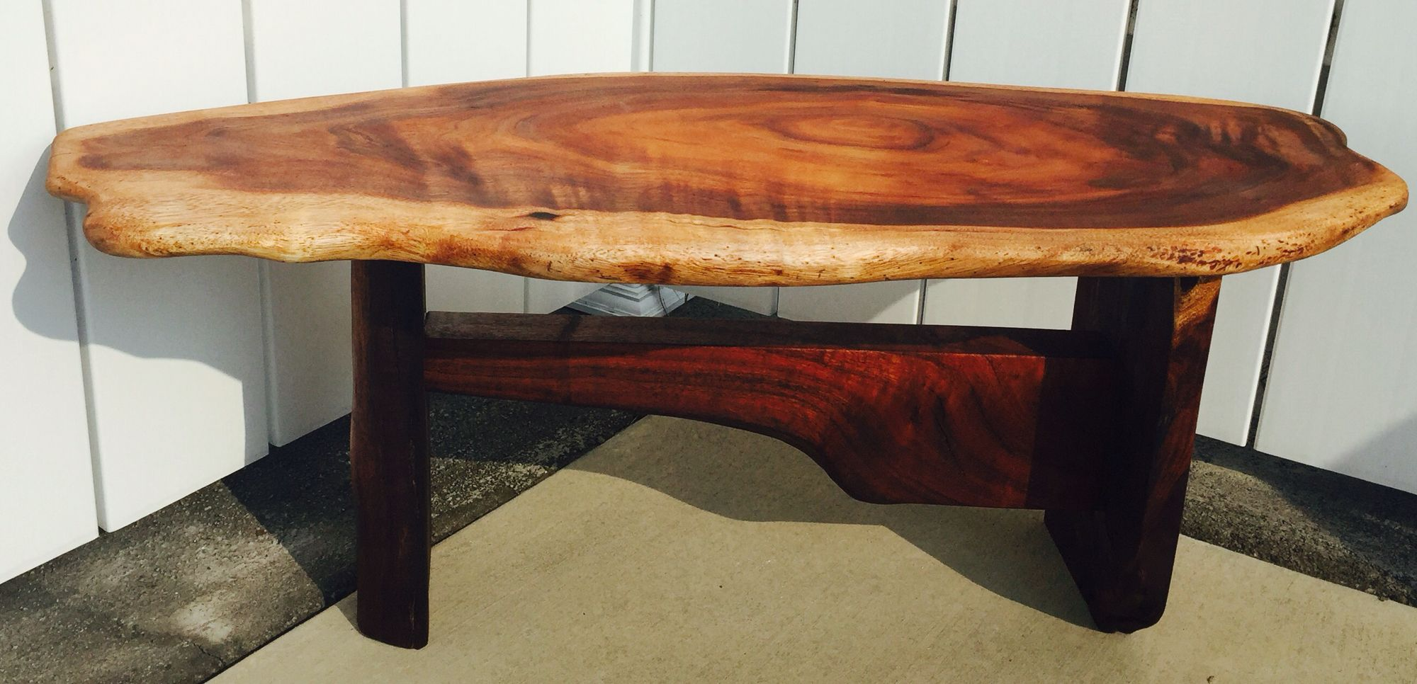 all solid hawaiian koa wood coffee table check out my works at www
