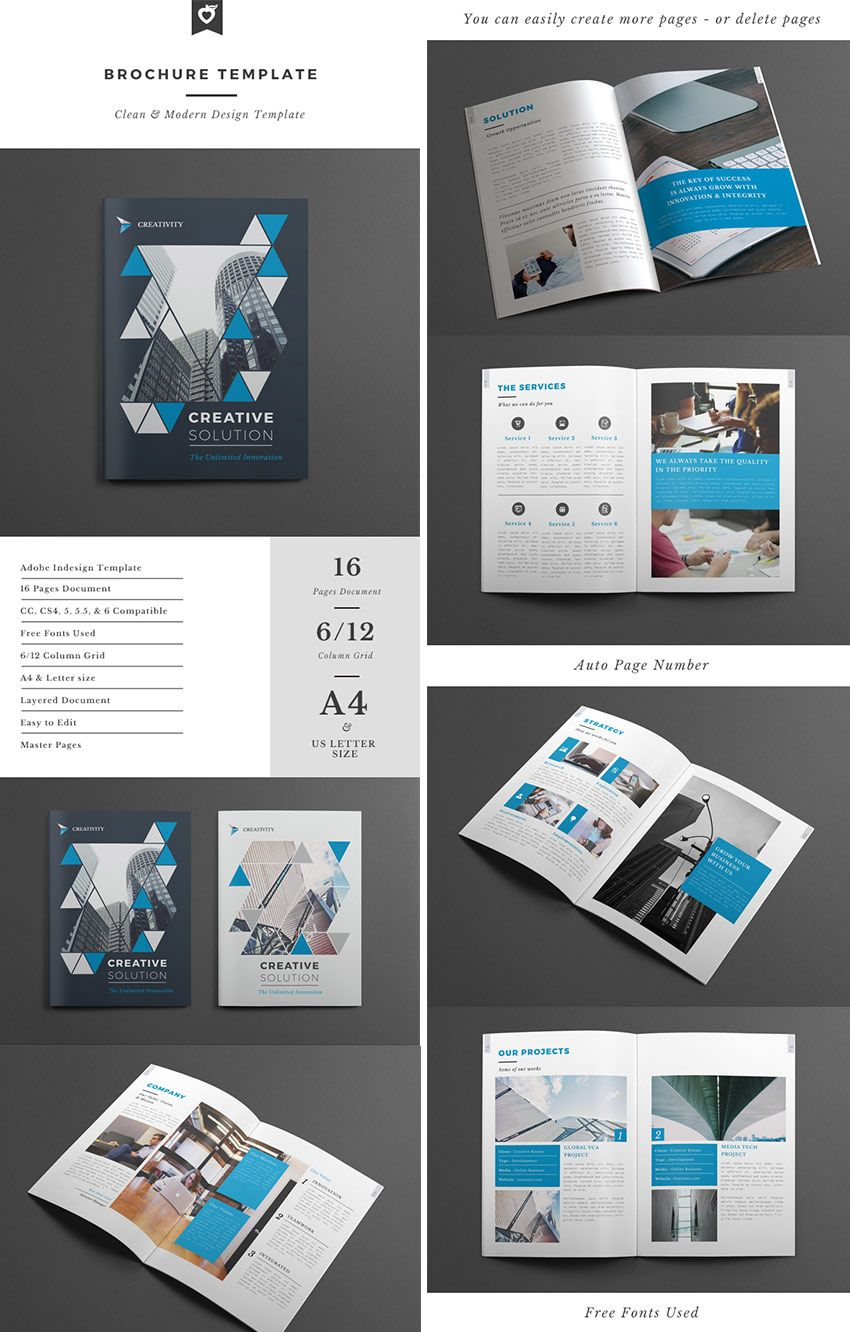 Creative Business Brochure Template INDD Brochure