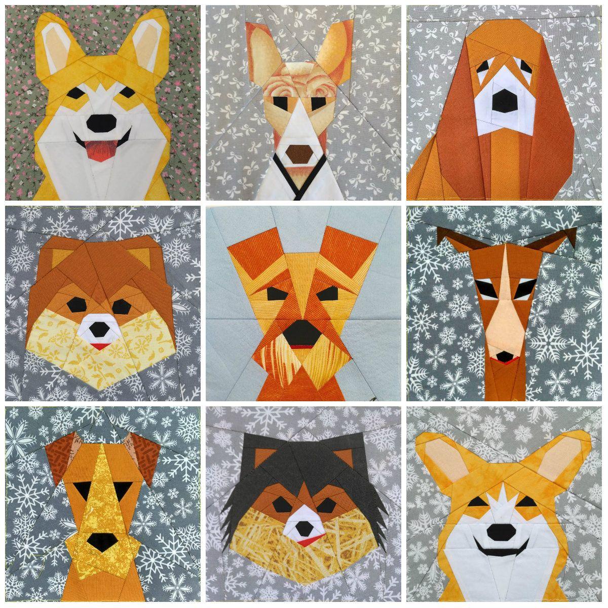 Dog Quilt block patterns