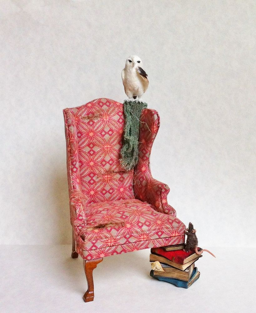 D/house Miniature Grubby Witch Chair 1/12th Handmade Witch/Wizard  - CWM