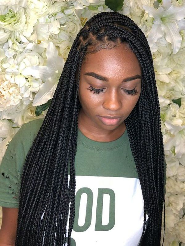 10 Super Box Braids Hairstyles And Haircuts : Best Box Braids Hairstyles #longboxbraids